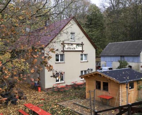 Waldhaus Kalkbrüche im Herbst