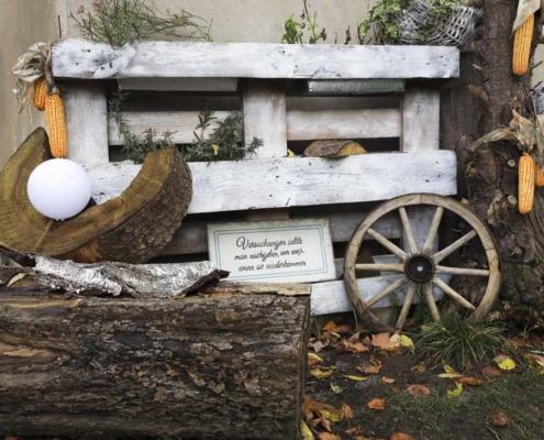 Deko am Waldhaus Kalkbrüche