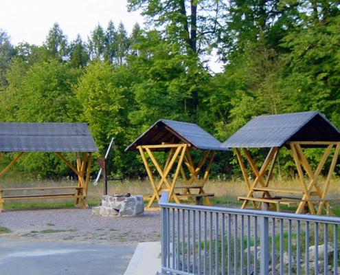 Rast- und Grillplatz am Standort der ehemaligen Wattefabrik von Oscar Drope