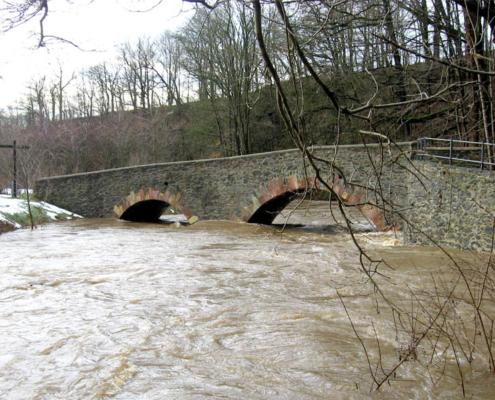 Hochwasser Striegis in Pappendorf